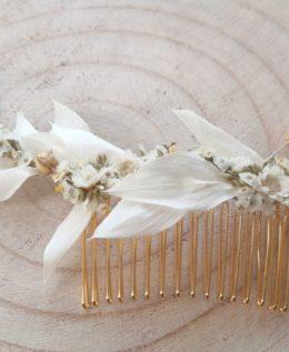 peigne long mariée louise fleurs séchées
