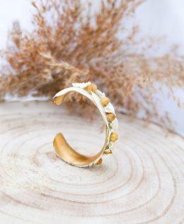 bracelet mariage fleurs séchées Louise