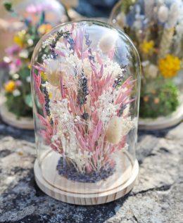 cloche raphael fleurs séchées décoration